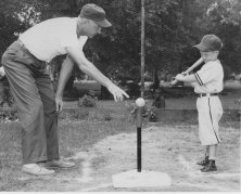 Tee Ball in Albion, 1958