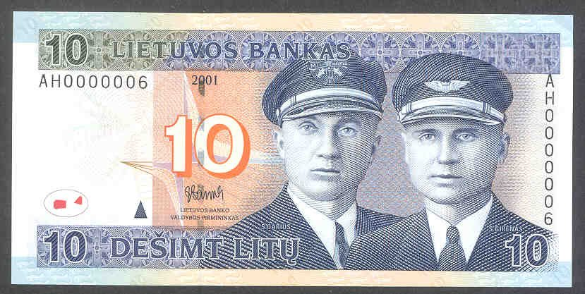 palwaukee airport illinois featured on lithuanian banknote