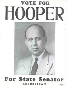 1944 Senator Warren G. Hooper Campaign Poster