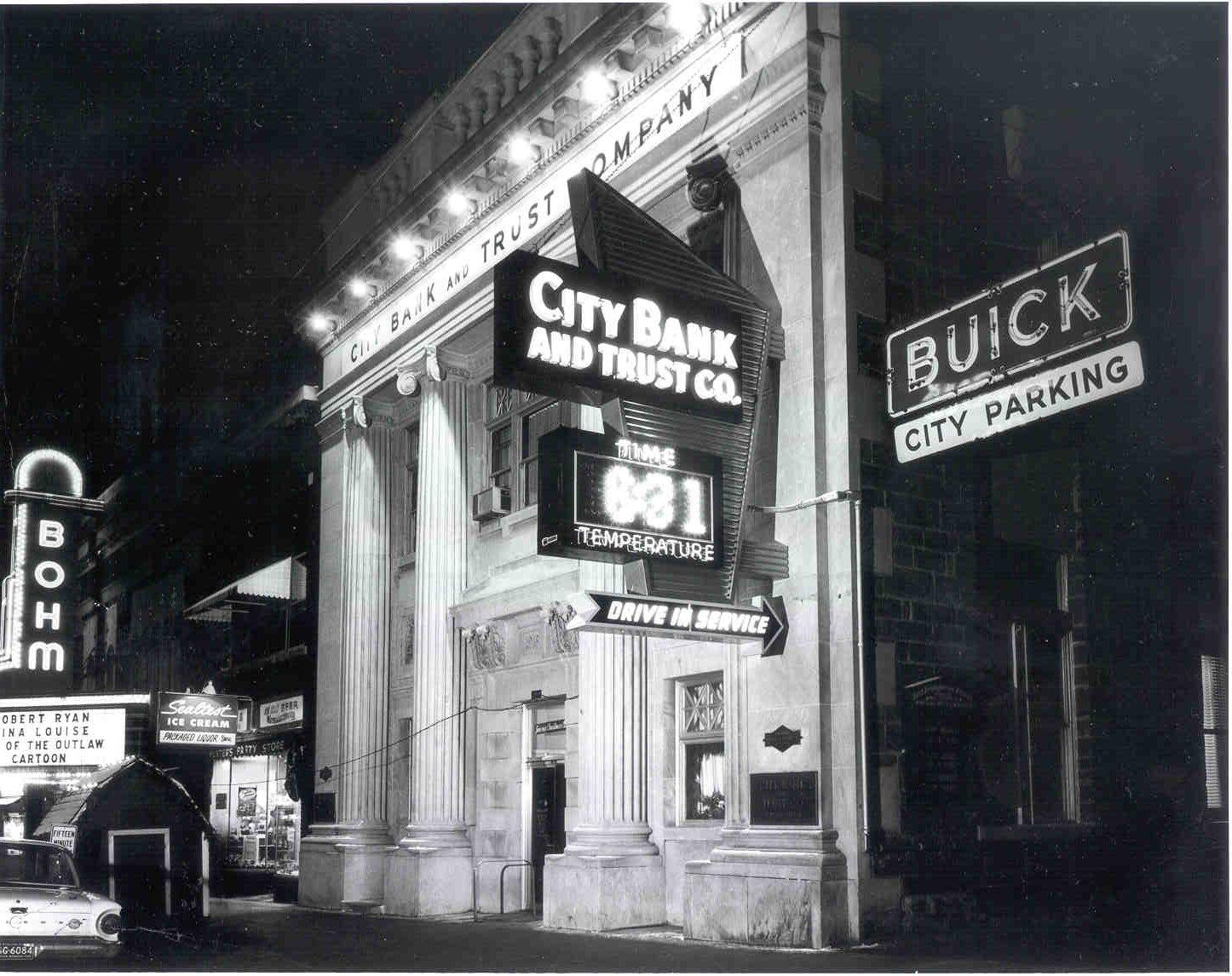 CITIZEN'S BANK TEMPERATURE SIGN - Historical Albion Michigan